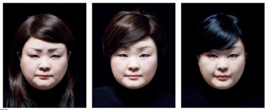 Above and below: Tomoko Sawada reimaged herself as 300 interpretations of East Asian women.