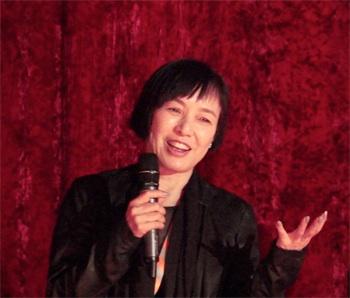 ベルリン国際映画祭で「火Hee」上映後に行われた質疑応答での桃井かおり(右から2人目)(よしもとクリエイティブ・エージェンシー提供)