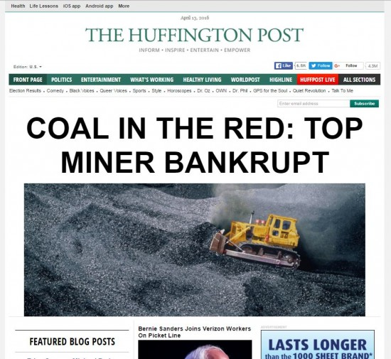 Screen grabs from The Huffington Post (above) and The Drudge Report.