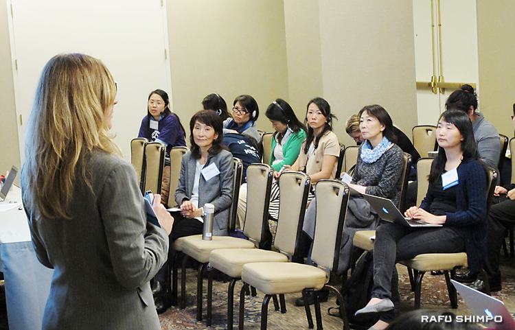 障害者が平等に教育を受ける制度のセミナーに参加する、手をつなぐ親の会のメンバーら