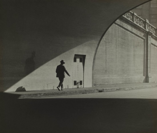 J.T. Sata Untitled (Man Walking out of Tunnel) c. 1930 Gelatin silver print Partial and promised gift of Frank and Marian Sata and family, Japanese American National Museum