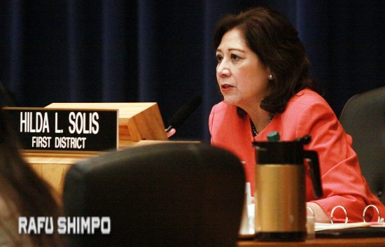 Los Angeles County Supervisor Hilda Solis.