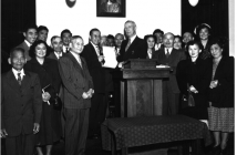 "Title and Deed transferred to the church, Oct 14, 1950.  By action of the conference, the name was changed to Buena Vista Methodist Church — no longer segregated into a ""separate but equal"" conference."