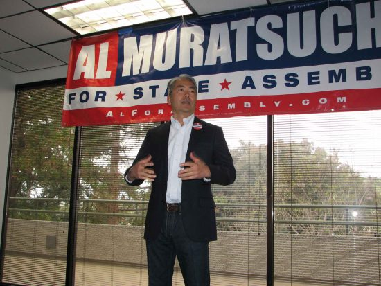 "Al Muratsuchi, at his new campaign headquarters, told his supporters, ""We are going to take back the South Bay."""