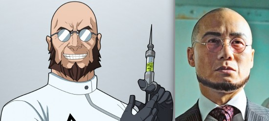 "DC Comics version of Dr. Hugo Strange and B.D. Wong as Dr. Strange in ""Gotham."""