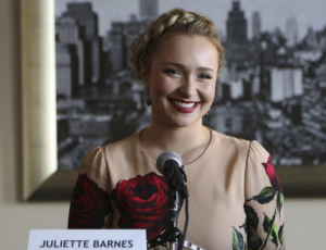 "In an upcoming episode of ""Nashville"" directed by Lily Mariye, Juliette Barnes (Hayden Panettiere) returns home after a long absence due to the death of her manager, post-partun depression and drug abuse. (ABC)"