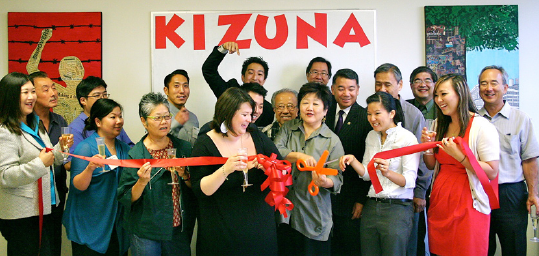 A ribbon-cutting ceremony celebrates the establishment of Kizuna.