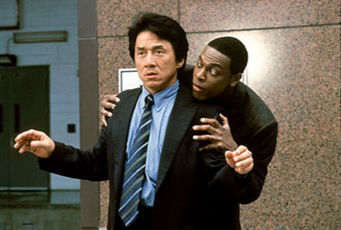 "The original ""Rush Hour"" duo of Jackie Chan and Chris Tucker."