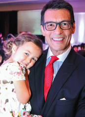 David Ono, pictured with daughter Kaia, will serve as emcee.