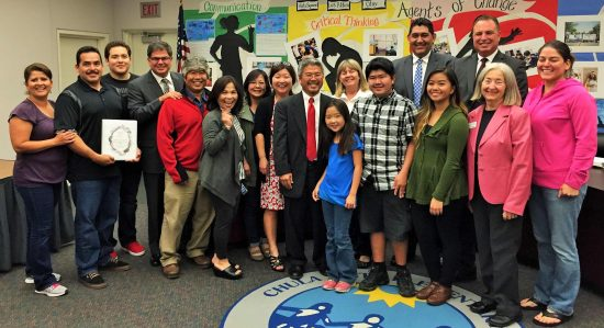 Members of the Muraoka family and friends attended the Board of Education meeting where the decision was made to name a school after Saburo Muraoka.