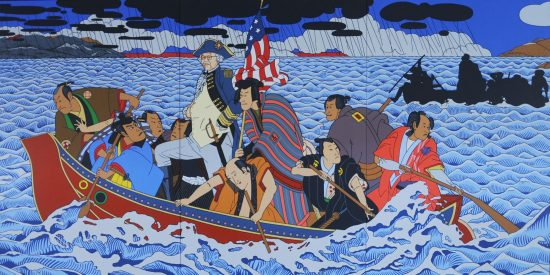 """Shimomura Crossing the Delaware"" by Roger Shimomura, one of the featured artists."