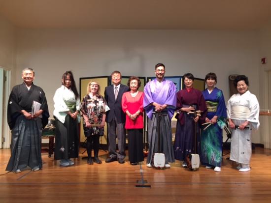 From left: Patrick Seki, Yukiko Ikebe, Kim Masumi, Akira Ogura, Junko Masuda, James Low, Mitsuru Sasaki, Emiko Kishi, Hideko Suzuki.