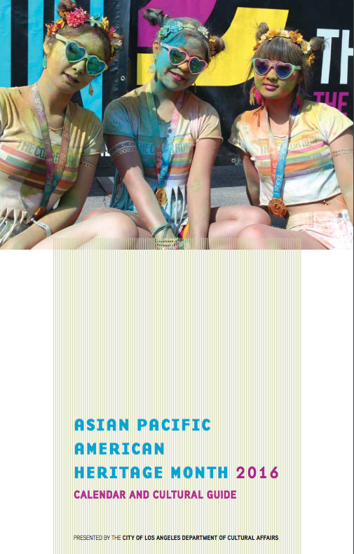 The cover of the APA Heritage Month Guide and Calendar features a photo by Ichiro Shimizu.