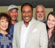 Hiroshima (from left): Danny Yamamoto, drums and percussion;  June Kuramoto, koto; Kimo Cornwell, keyboards; Terry Steele, vocals; Dean Cortez, bass; Yvette Nii, vocals: Dan Kuramoto, saxophone and flutes.
