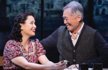 "Lea Salonga and George Takei in a scene from ""Allegiance."""