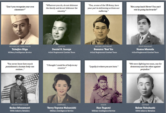 Profiles of 12 Japanese American soldiers who served during World War II are featured in a digital exhibition that launched on May 12.