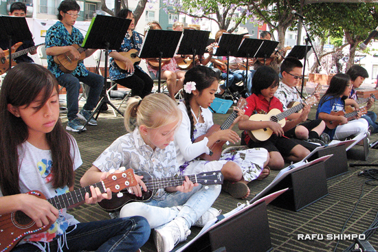 The North Torrance Elementary Ukulele Ensemble.