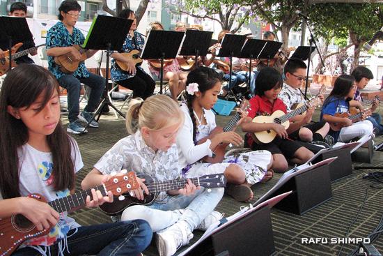 The North Torrance Elementary Ukulele Ensemble.