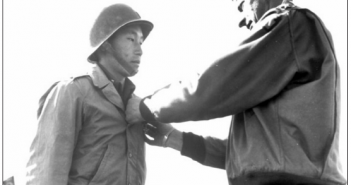 First Lt. Young Oak Kim was given the Silver Star for action in Italy in April 1944. (University of Southern California Libraries)
