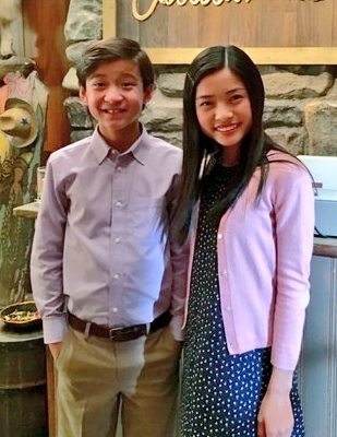 Emery (Forrest Wheeler) and Aubrey (Ashley Liao).