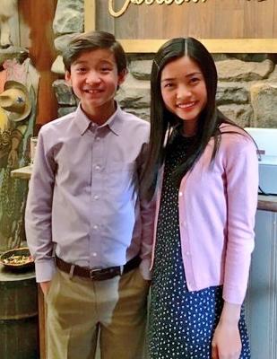 Emery (Forrest Wheeler) and Aubrey (Ashley Liao).