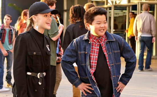 The real Alison (Isabella Alexander) with Eddie (Hudson Yang).