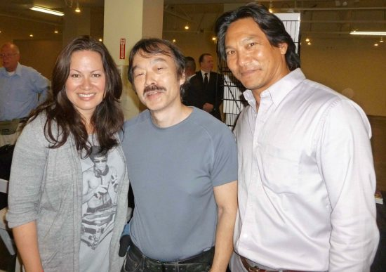 Guy Aoki with Shannon Lee and Jason Scott Lee.