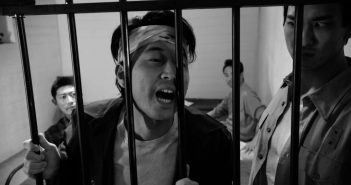 "A jail scene from Brian Maeda's docudrama ""We Said No! No!"""
