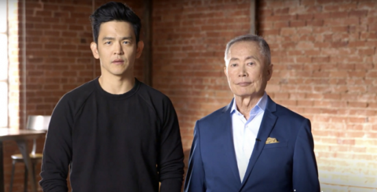 John Cho and George Takei
