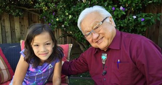 Rep. Mike Honda with his granddaughter, Malisa.