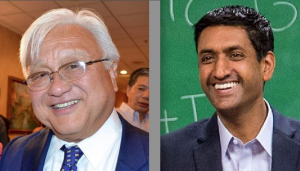 Rep. Mike Honda and challenger Ro Khanna