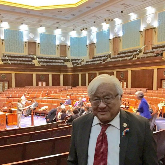 Rep. Mike Honda (D-San Jose) in the House chambers at 4:15 a.m. on June 23.