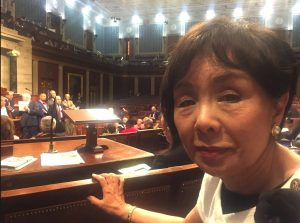 Rep. Doris Matsui (D-Sacramento) in the House chambers during the sit-in.