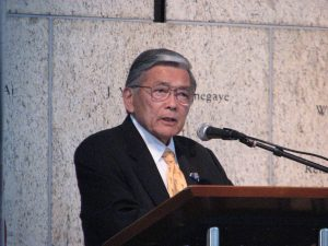 Former Secretary of Transportation Norman Mineta.
