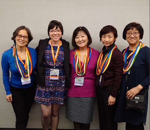 From left: Laurin Mayeno, Christina Adams, Marsha Aizumi, Clara Yoon and Joanne Lee.