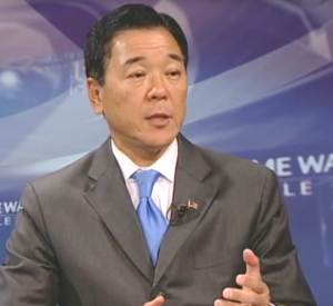 Paul Tanaka being interviewed by Time Warner Cable in 2014.