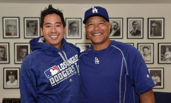 Dave Roberts (right) and Scott Akasaki