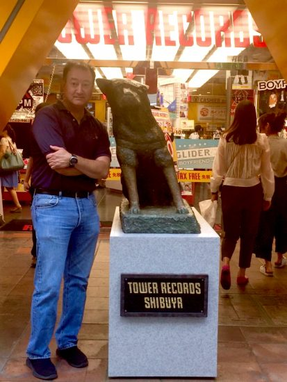 George Johnston at Tower Records in Shibuya.