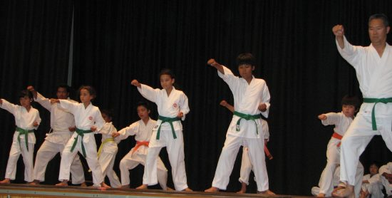 Karate demonstration at last year's Summer Festival. (J.K. YAMAMOTO/Rafu Shimpo)