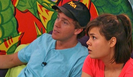 "Bridgette waits for Frank to tell her what to do next on ""Big Brother 18."""