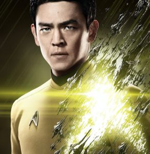 "John Cho as Sulu in a promotional poster for ""Star Trek Beyond."""