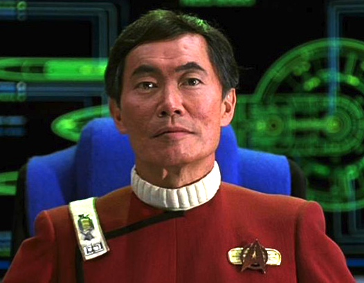 "George Takei as Capt. Hikaru Sulu in ""Star Trek VI: The Undiscovered Country"" (1991)."