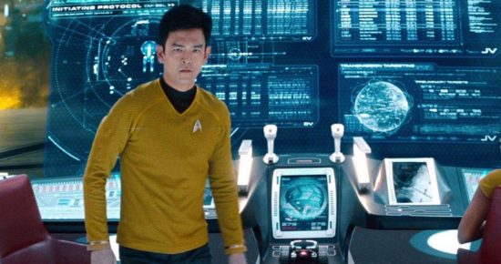 "John Cho as Lt. Hikaru Sulu in ""Star Trek Into Darkness"" (2013). He is playing Sulu for the third time in ""Star Trek Beyond,"" which opened July 22."