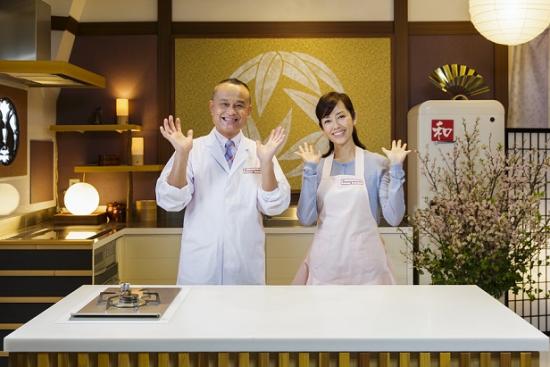 "Chef Tatsuo Saito and Yu Hayami of ""Dining with the Chef."""