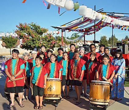 Fresno Gumyo Taiko at the Fresno Obon in 2014.