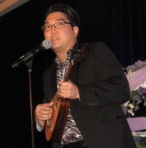 Jason Arimoto performed an original ukulele piece in honor of Daniel Ho.