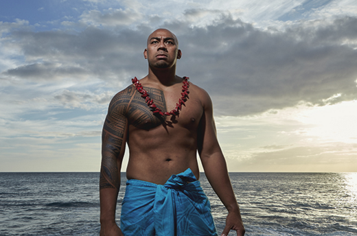 Tattoo by Sulu'ape Steve Looney. (Photo by John Agcaoili)