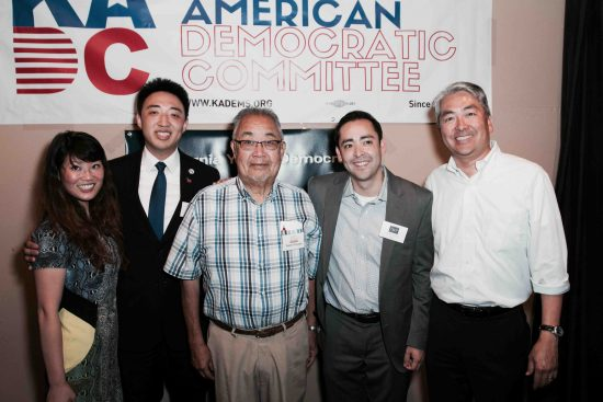 From left: Jessica J. Ho, Gene Kim, Warren Furutani, Ryan Guillen and Al Muratsuchi. (Photo by Albert Lu)