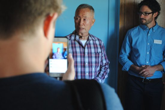 George Takei with HMWF Executive Director Brian Liesinger.