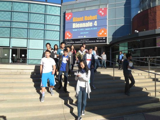 Rising Stars participants visit the Japanese American National Museum. (Photo by Cyril Nishimoto)